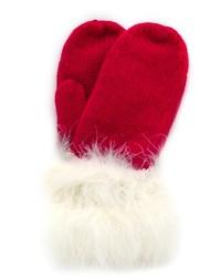 Gants en laine rouges Kate Spade
