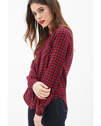 Gingham Button Down Blouse