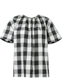 Gingham short sleeve blouse original 1293486