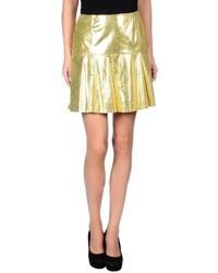 Gold A-Line Skirt