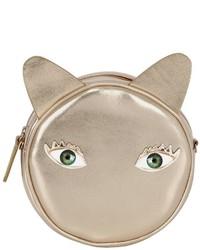 Eye Patches Leather Shoulder Bag