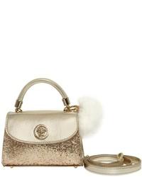 Glittered Laminated Leather Bag