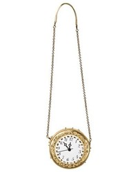 Dolce & Gabbana Gold Clock Bag