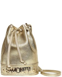 Simonetta Faux Leather Bucket Bag