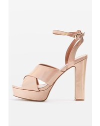 Topshop Madrid Cross Strap Ballet Shoes