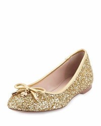 Kate Spade New York Willa Glitter Ballerina Flat Gold