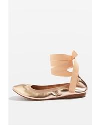 Topshop Vanquish Elastic Ballet Shoes