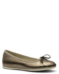 Gucci Kids Metallic Leather Ballet Flats