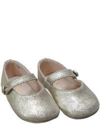 Bonpoint Metallic Leather Mary Jane Gold Infant