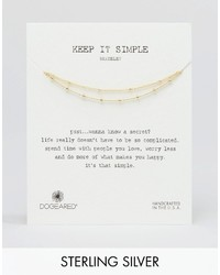 Dogeared Gold Plated Keep It Simple Beaded Double Strand Bracelet