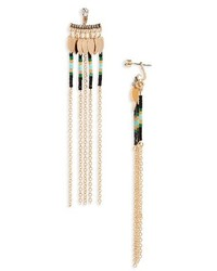 Topshop Beaded Chain Fringe Ear Jackets