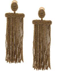 Oscar de la Renta Beaded Earrings