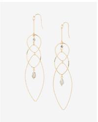 Express Beaded Mixed Oval Drop Earrings