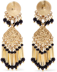 Etro Gold Plated Beaded Earrings