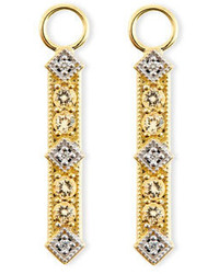 Jude Frances Lisse Champagne Citrine Diamond Charms For Earrings