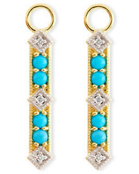 Jude Frances Lisse Turquoise Diamond Charms For Earrings