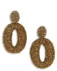 Oscar de la Renta Classic Oscar Beaded O Clip On Earrings