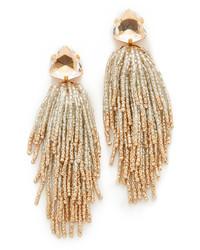 Tory Burch Stone Tassel Earrings