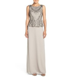Beaded peplum gown medium 801775