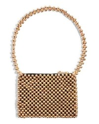 Topshop Metallic Beaded Shoulder Bag