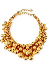 Oscar de la Renta Bold Beaded Collar Necklace