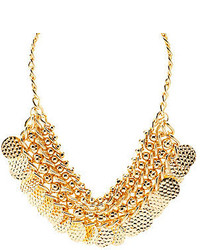 Charlotte Russe Chain Bead Coin Collar Necklace