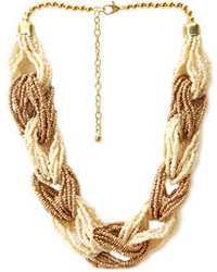 Forever 21 Contrast Braid Necklace