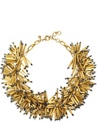 J.Crew Fireburst Gold Tone Beaded Necklace