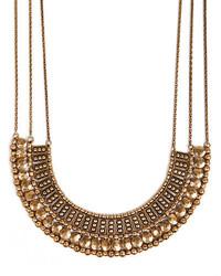Lucky Brand Goldtone Textured Bead Collar Necklace
