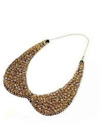 PDS Online Elegant Lady Party Banquet Crystal Beads Fake Faux False Collar Necklace