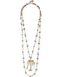 Rosantica Rosarietto Amore Gold Tone Beaded Necklace