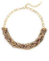 Saks Fifth Avenue Beaded Braid Collar Necklace