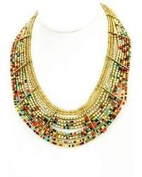 Twist Beaded Collar Necklace