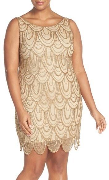 Pisarro Nights Plus Size Beaded Sheath Dress Where To Buy How To