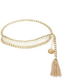 Chanel Vintage Multi Strand Pearl Chain Belt