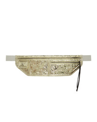 Rick Owens Gold Metallic Money Belt Pouch