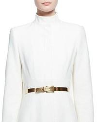 Alexander McQueen Golden Metal Buckle Belt