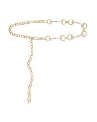 Gucci Horsebit Gold Tone Belt