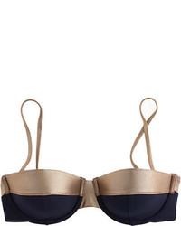 J.Crew Metallic Colorblock Underwire Bikini Top