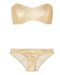 Lisa Marie Fernandez Natalie Metallic Bandeau Bikini
