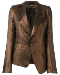 Ann demeulemeester metallic blazer medium 661081