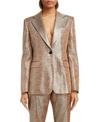 Dries Van Noten Barbilar Metallic Blazer