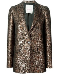Eggs Metallic Jacquard Blazer