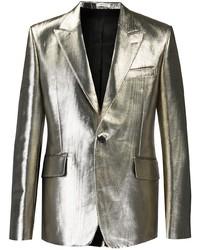 Alexander McQueen Metallic Finish Single Breasted Blazer