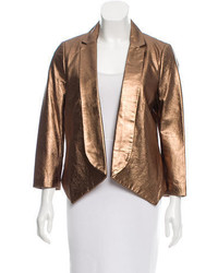 Rebecca Minkoff Metallic Leather Blazer W Tags