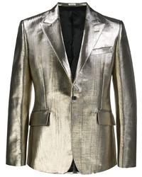 Alexander McQueen Metallic Sheen Blazer Jacket