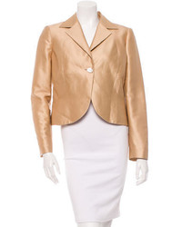 Valentino Satin Single Button Blazer
