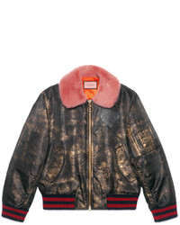 Gucci Ghost Hand Painted Bomber
