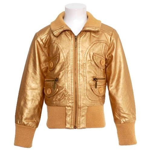 3c4741c60 Girls Gold Metallic Bomber Jacket Designer Fall Winter Coat 16