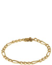 18k Figaro Chain Link Bracelet